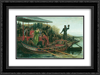 Meeting of princess 24x18 Black or Gold Ornate Framed and Double Matted Art Print by Fyodor Bronnikov