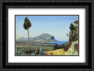 Palermo 24x18 Black or Gold Ornate Framed and Double Matted Art Print by Fyodor Bronnikov