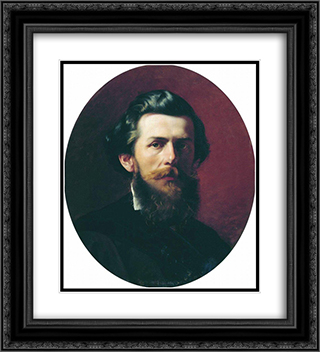 Portrait of A.P. Bogoliubov 20x22 Black or Gold Ornate Framed and Double Matted Art Print by Fyodor Bronnikov