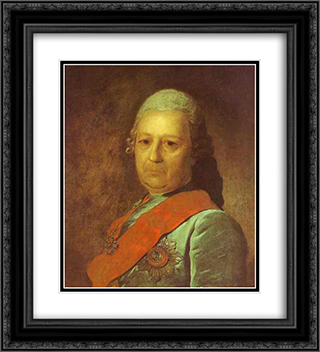 Portrait of A.M.Obreskov 20x22 Black or Gold Ornate Framed and Double Matted Art Print by Fyodor Rokotov