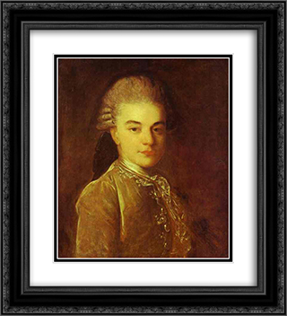 Portrait of A.M.Rimskiy-Korsakov 20x22 Black or Gold Ornate Framed and Double Matted Art Print by Fyodor Rokotov