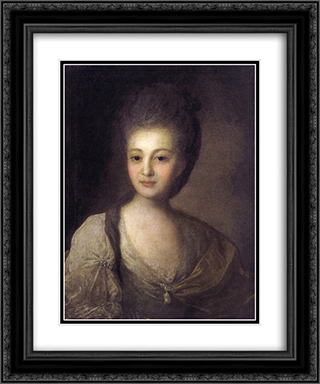 Portrait of Alexandra Struiskaya 20x24 Black or Gold Ornate Framed and Double Matted Art Print by Fyodor Rokotov