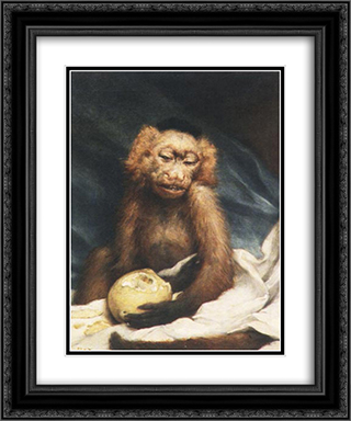 Bitter Experience 20x24 Black or Gold Ornate Framed and Double Matted Art Print by Gabriel von Max