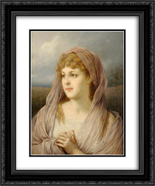 Blonde Frau 20x24 Black or Gold Ornate Framed and Double Matted Art Print by Gabriel von Max