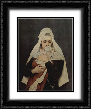 Findelkind 20x24 Black or Gold Ornate Framed and Double Matted Art Print by Gabriel von Max
