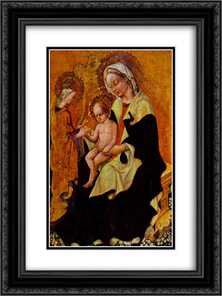 Betrothal of Catherine of Alexandria 18x24 Black or Gold Ornate Framed and Double Matted Art Print by Gentile da Fabriano