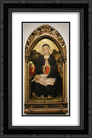 Gentile da Fabriano, Nativity 16x24 Black or Gold Ornate Framed and Double Matted Art Print by Gentile da Fabriano