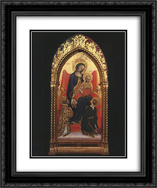 Gentile da Fabriano Madonna and Child, with Sts. Lawrence 20x24 Black or Gold Ornate Framed and Double Matted Art Print by Gentile da Fabriano