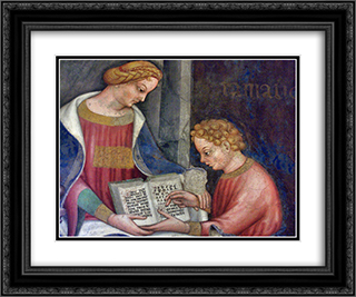 Grammar 24x20 Black or Gold Ornate Framed and Double Matted Art Print by Gentile da Fabriano