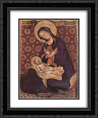 Madonna 20x24 Black or Gold Ornate Framed and Double Matted Art Print by Gentile da Fabriano