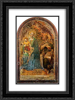 Madonna and Child with Angels Madonna and Child with Angels Gentile da Fabriano Fresco Orvieto, Cathedral 18x24 Black or Gold Ornate Framed and Double Matted Art Print by Gentile da Fabriano
