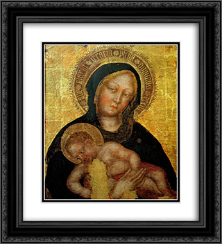 Madonna with Child Gentile da Fabriano 20x22 Black or Gold Ornate Framed and Double Matted Art Print by Gentile da Fabriano