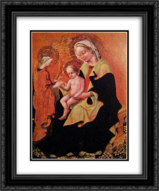 Mystic Marriage of Saint Catherine of Alexandria 20x24 Black or Gold Ornate Framed and Double Matted Art Print by Gentile da Fabriano