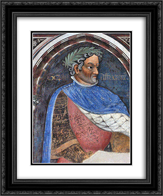 Scipio Africanus 20x24 Black or Gold Ornate Framed and Double Matted Art Print by Gentile da Fabriano