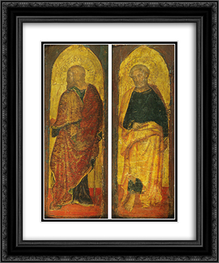 St. James the Greate and St. Peter, the polyptych Sandei Collection Berenson 20x24 Black or Gold Ornate Framed and Double Matted Art Print by Gentile da Fabriano