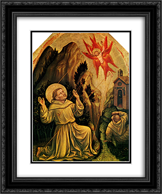 St.Francis 20x24 Black or Gold Ornate Framed and Double Matted Art Print by Gentile da Fabriano