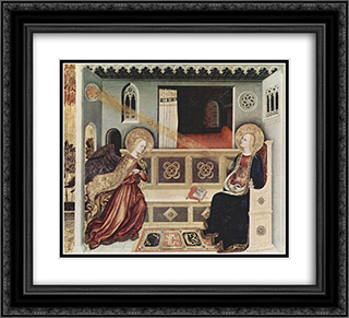 The Annunciation 22x20 Black or Gold Ornate Framed and Double Matted Art Print by Gentile da Fabriano