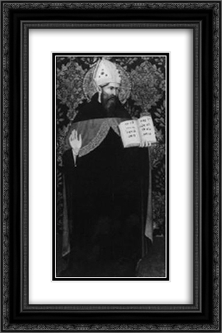 The Bishop (Saint) 16x24 Black or Gold Ornate Framed and Double Matted Art Print by Gentile da Fabriano