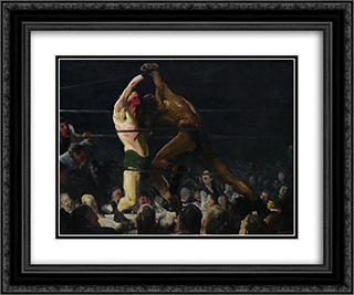Both Members of This Club 24x20 Black or Gold Ornate Framed and Double Matted Art Print by George Bellows