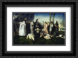 Massacre at Dinant 24x18 Black or Gold Ornate Framed and Double Matted Art Print by George Bellows