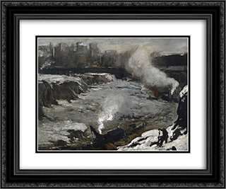 Pennsylvania Excavation 24x20 Black or Gold Ornate Framed and Double Matted Art Print by George Bellows