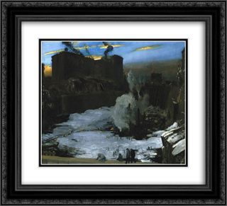 Pennsylvania Station Excavation 22x20 Black or Gold Ornate Framed and Double Matted Art Print by George Bellows