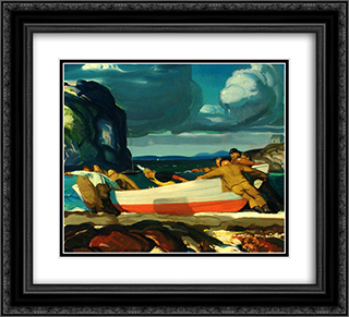 The Big Dory 22x20 Black or Gold Ornate Framed and Double Matted Art Print by George Bellows