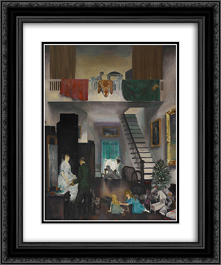 The Studio 20x24 Black or Gold Ornate Framed and Double Matted Art Print by George Bellows
