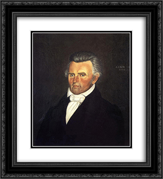 Dr. John Sappington 20x22 Black or Gold Ornate Framed and Double Matted Art Print by George Caleb Bingham
