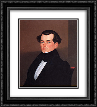 Major James Sidney Rollins 20x22 Black or Gold Ornate Framed and Double Matted Art Print by George Caleb Bingham