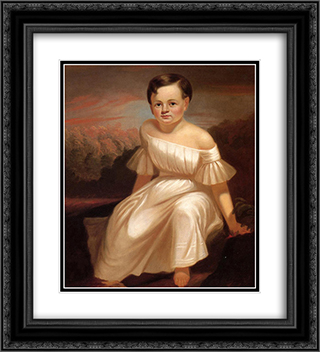 Miss Sallie Ann Camden 20x22 Black or Gold Ornate Framed and Double Matted Art Print by George Caleb Bingham
