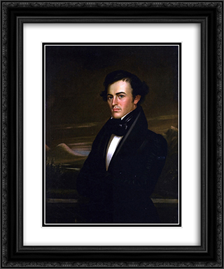 Samuel Bullitt Churchill 20x24 Black or Gold Ornate Framed and Double Matted Art Print by George Caleb Bingham