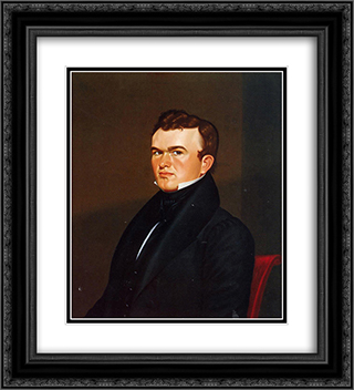 Self-Portrait 20x22 Black or Gold Ornate Framed and Double Matted Art Print by George Caleb Bingham