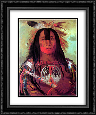 Buffalo Bull's Back Fat (Stu-mick-o-sÆ'ocks) Head Chief of the Blood Tribe (Blackfoot) 20x24 Black or Gold Ornate Framed and Double Matted Art Print by George Catlin