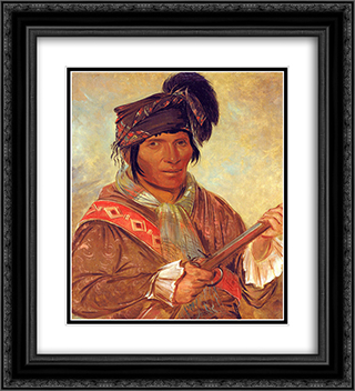 Co-ee-ha-jo, a Seminole Chief 20x22 Black or Gold Ornate Framed and Double Matted Art Print by George Catlin
