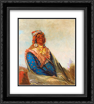 Hol-te-mal-te-tez-te-neek-ee, Sam Perryman (Creek Chief) 20x22 Black or Gold Ornate Framed and Double Matted Art Print by George Catlin