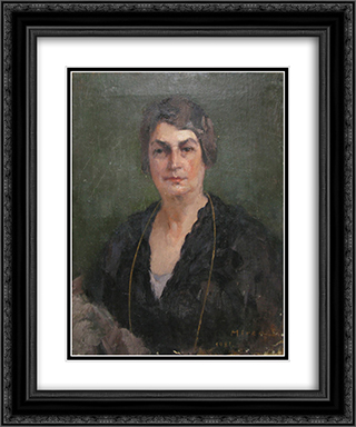 Portrait of a Lady 20x24 Black or Gold Ornate Framed and Double Matted Art Print by George Demetrescu Mirea