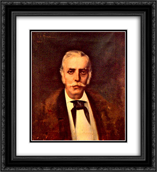 Portrait of a Man 20x22 Black or Gold Ornate Framed and Double Matted Art Print by George Demetrescu Mirea