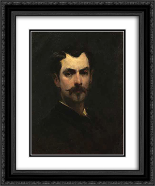 Self-Portrait 20x24 Black or Gold Ornate Framed and Double Matted Art Print by George Demetrescu Mirea