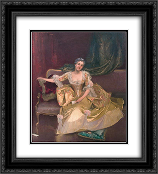 Wife of the Artist 20x22 Black or Gold Ornate Framed and Double Matted Art Print by George Demetrescu Mirea