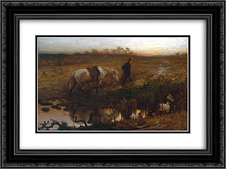 The Cast Shoe 24x18 Black or Gold Ornate Framed and Double Matted Art Print by George Hemming Mason