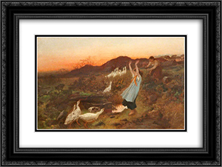 The Gander 24x18 Black or Gold Ornate Framed and Double Matted Art Print by George Hemming Mason