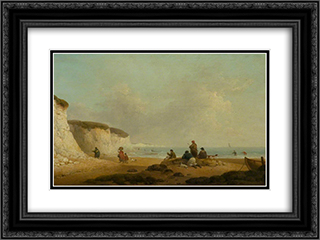 Calm off the Coast of the Isle of Wight 24x18 Black or Gold Ornate Framed and Double Matted Art Print by George Morland