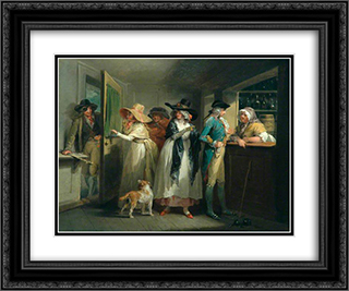 Easy Money 24x20 Black or Gold Ornate Framed and Double Matted Art Print by George Morland