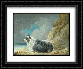 Friend 24x20 Black or Gold Ornate Framed and Double Matted Art Print by George Morland