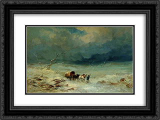Landscape 24x18 Black or Gold Ornate Framed and Double Matted Art Print by George Morland