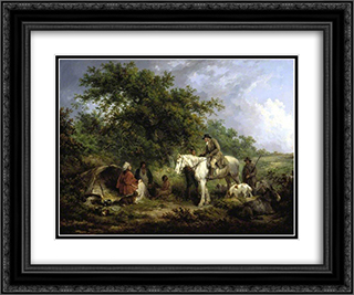 Morning (The Benevolent Sportsman) 24x20 Black or Gold Ornate Framed and Double Matted Art Print by George Morland