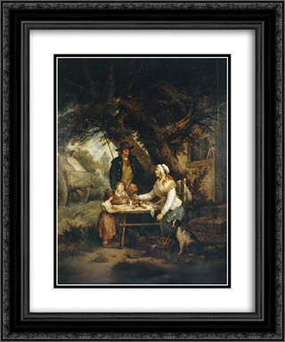 Selling Carrots 20x24 Black or Gold Ornate Framed and Double Matted Art Print by George Morland
