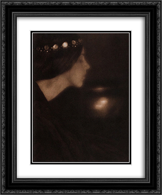 Black Bowl 20x24 Black or Gold Ornate Framed and Double Matted Art Print by George Seeley