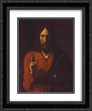 Christ Benissant 20x24 Black or Gold Ornate Framed and Double Matted Art Print by Georges de la Tour